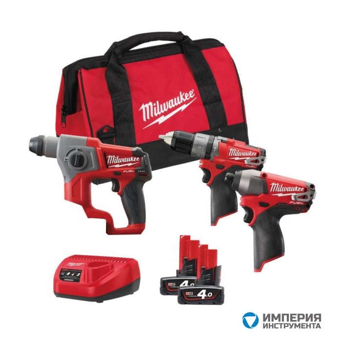 Набор инструментов Milwaukee M12 FUEL SET3D-402B