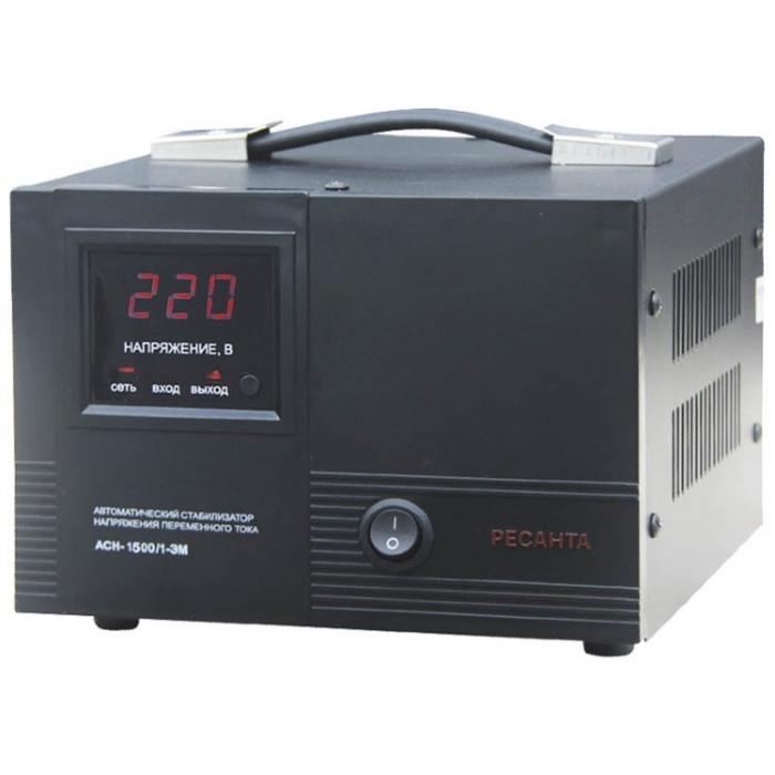 Однофазный стабилизатор напряжения электромеханического типа Ресанта ACH-1500/1-ЭМ