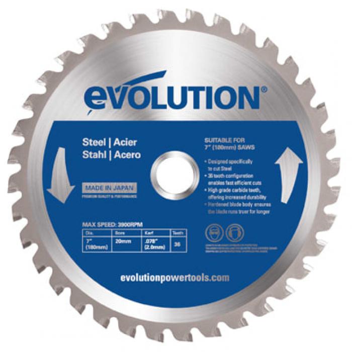 Диск по стали EVOLUTION EVOBLADE 180х20х2,0х36