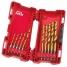 Набор сверл по металлу Milwaukee Shockwave HSS-G Tin Red Hex (10шт)