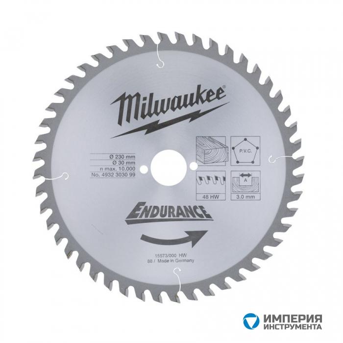Диск для циркулярных пил по дереву Milwaukee WCSB 165 x 30 x 24 (1шт)