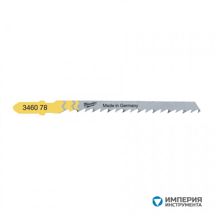 Полотно для фигурной резки Milwaukee JigBl T244D 75 мм/ шаг зуба 4 мм (5шт)
