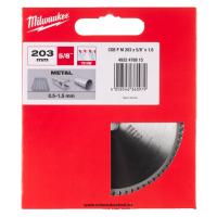 Диск для циркулярных пил по металлу Milwaukee CSB P M 203x5/8x1.6x70z (1шт)