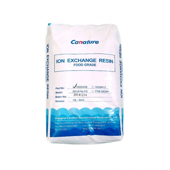 Ионообменная смола Canature Resin NaFG (25L/Bag) (1 л.)