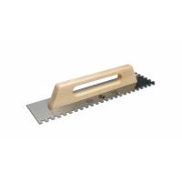 Гребёнка стальная RUBI 480 мм зуб 10x10 мм с деревянной ручкой