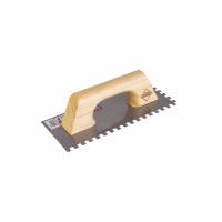 Гребёнка стальная RUBI 280 мм зуб 8x8 мм с деревянной ручкой