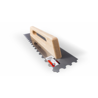 Гребёнка стальная RUBI 48 см, (R-10) с деревянной ручкой