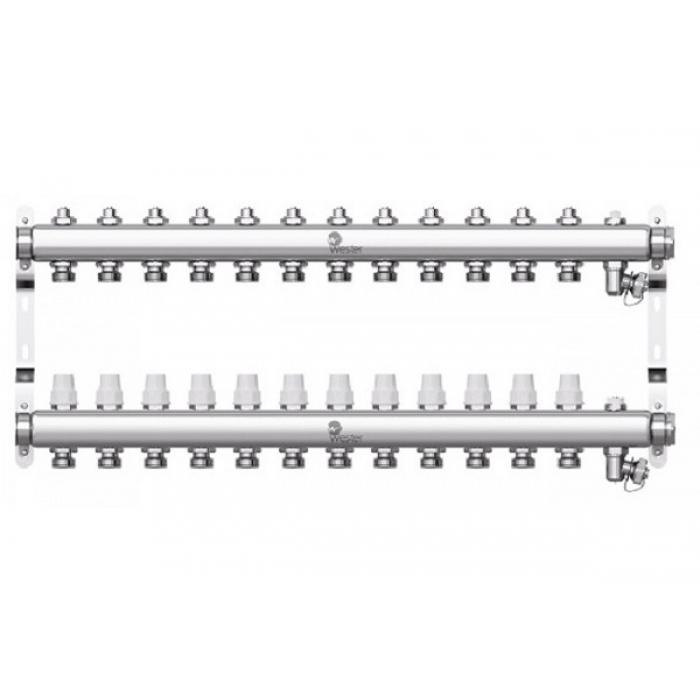 Коллектор нерж. Wester W903 1-3/4 в сборе на 12 выходов с 2 заглушками