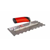 Гребёнка стальная RUBI 280х120 мм R-10 с двухкомпонентной ручкой