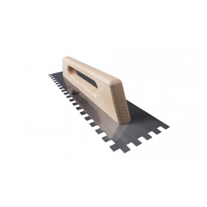 Гребёнка стальная RUBI 480 мм зуб 12x12 мм с деревянной ручкой