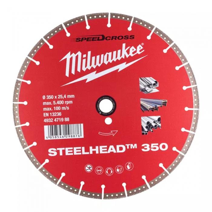 Алмазный диск Milwaukee CIS STEELHEAD 350 мм (1шт)