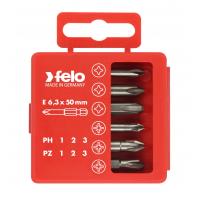 Набор бит Felo PS/PH Industrial 50 мм в кейсе, 6 шт