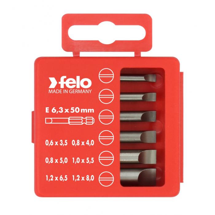 Набор бит Felo SL Industrial 50 мм в кейсе, 6 шт