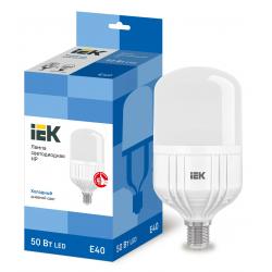 Лампа светодиодная IEK HP 50Вт 230В 6500К E40