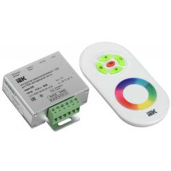 Контроллер IEK с ПДУ (радио, RGB, 3 канала, 12В, 4А, 144Вт, белый)