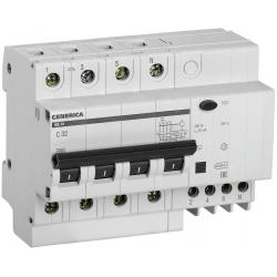 Дифференциальный автоматический выключатель IEK (АД14, 4Р, 32А, 30мА, GENERICA)