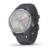 Умные часы серебристые с гранитно-синим ремешком Garmin Vivomove 3s