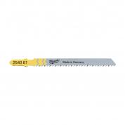 Полотно для чистой резки без сколов Milwaukee JigBl T101B 75 мм/ шаг зуба 2.5 мм (5шт)