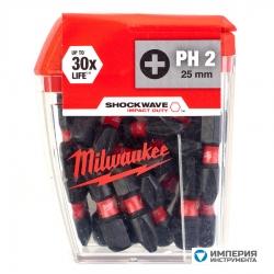 Бита Milwaukee Shockwave Impact Duty PH2 x 25 мм (25 шт)