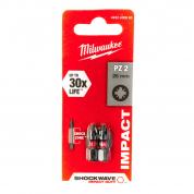 Бита Milwaukee Shockwave Impact Duty PZ2 x 25 мм (2шт)