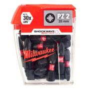 Биты для шуруповерта Milwaukee Shockwave PZ2 x 25 мм (25шт)