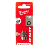 Биты для шуруповерта Milwaukee Shockwave Impact Duty TX20 x 25 мм (2шт)
