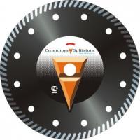 Отрезной алмазный круг Сплитстоун  (Turbo 230x2,6x10xМ14 с фланцем железобетон 16) сухая Super