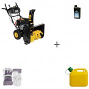 Снегоуборщик бензиновый Champion ST761E + масло + канистра + перчатки в подарок!