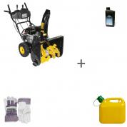 Снегоуборщик бензиновый Champion ST762E + масло + канистра + перчатки в подарок!