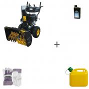 Снегоуборщик бензиновый Champion ST1170E + масло + канистра + перчатки в подарок!