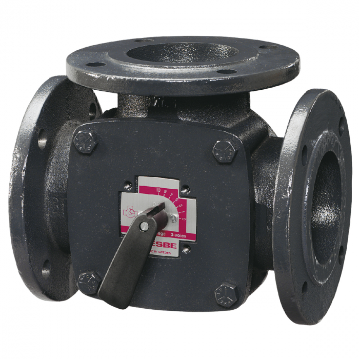 Клапан поворотный 3-ходовый фланцевый ESBE 3F50 (DN50,Kvs60,PN6,КО-ОХ)