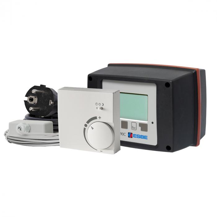 Контроллер-привод поворот. ESBE 90C-3C-90 (220В,15Нм,90°,комн.t⁰C-каб.,наруж.t⁰C,каб.,КО-РО-ТП-ТН-ТТ-ОХ)
