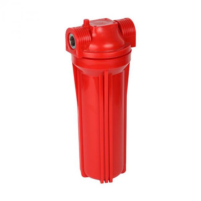Фильтр магистральный для горячей воды (непрозрачный красный корпус 10) 3/4 без картриджа