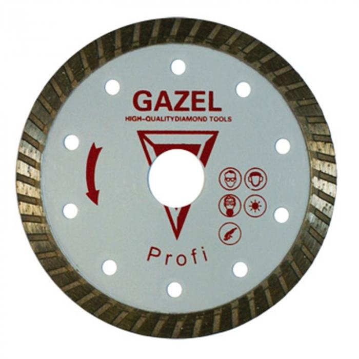 Отрезной алмазный круг Сплитстоун (GAZEL Turbo 230x2,6x10x22,2 строит. материалы 2,5) сухая Profi