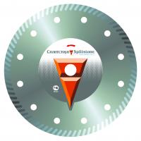 Отрезной алмазный круг Сплитстоун (Turbo 230x1,6x7x22,2 керамика 35) сухая Premium