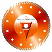 Отрезной алмазный круг Сплитстоун (Turbo 230x2,6x10x22,2 кирпич 9) сухая Premium