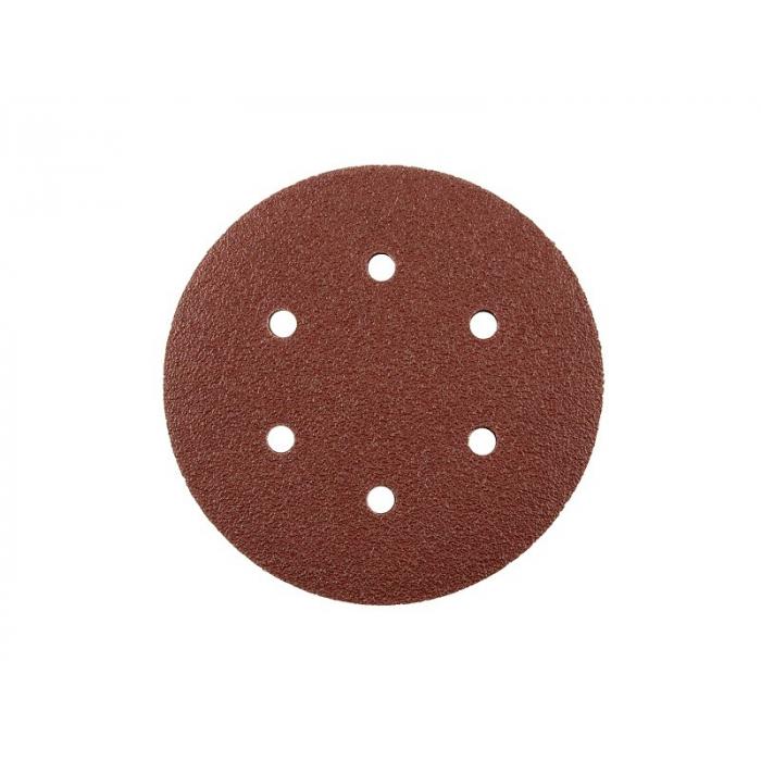 Шлифовальный круг на липучке GermaFleks 6 отверстий 150 мм/ зерно 80 электрокорунд бордовый KND