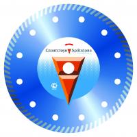 Отрезной алмазный круг (под фланец) Сплитстоун (Turbo 230x2,6x7x70 бетон 12) сухая Premium