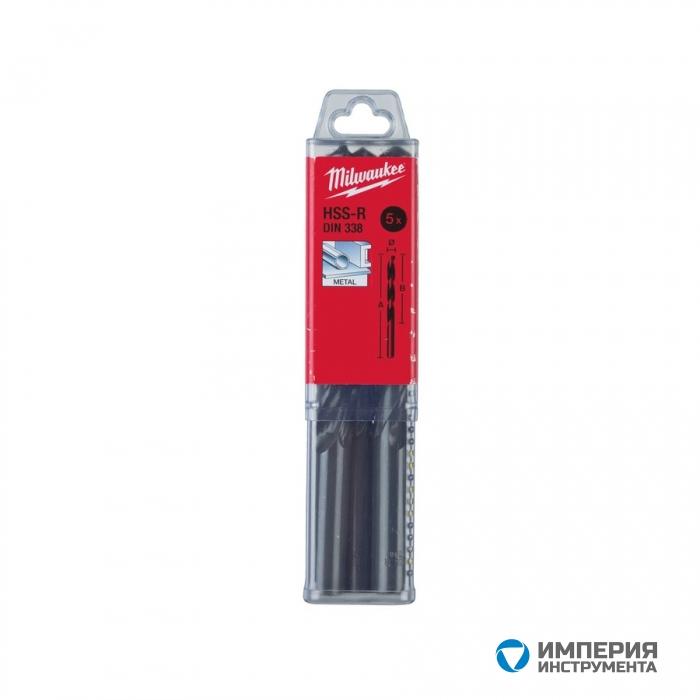 Сверло по металлу Milwaukee HSS-R DIN338 12x 151мм (5шт)