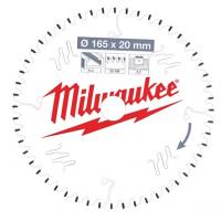 Пильный диск для циркулярной пилы по алюминиюMilwaukee 165 x 20 x 2.2 мм (1шт)