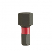 Биты для шуруповерта Shockwave Impact Duty Milwaukee Hex 10 мм X 25 мм (2шт)