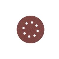 Шлифовальный круг Milwaukee 8 отверстий 125 мм/ зерно 120 (5шт)