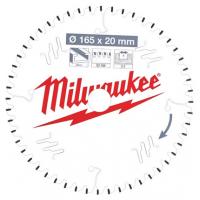Пильный диск для циркулярной пилы по деревуMilwaukee PW 165 x 20 x 2.2 мм (1шт)