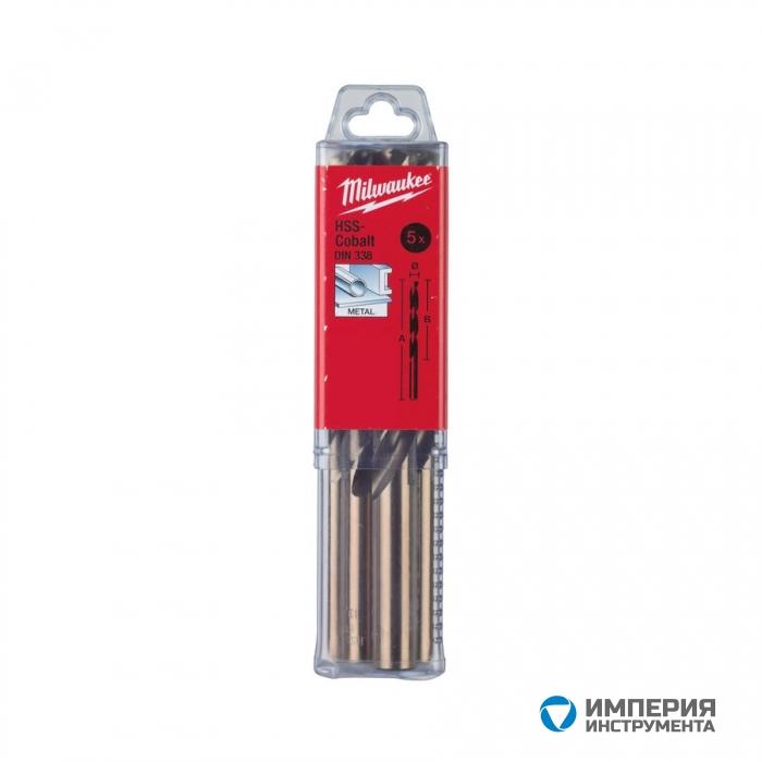 Сверло по металлу Milwaukee HSS-G Cobalt DIN338 11.5 x 142 мм (5шт)