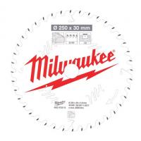 Пильный диск для торцовочной пилы по деревуMilwaukee 250 x 30 x 2.8 мм (1шт)