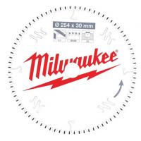 Пильный диск для торцовочной пилы по алюминиюMilwaukee 254 x 30 x 3 мм (1шт)