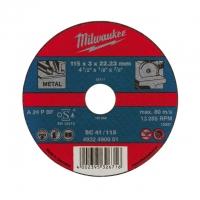 Отрезной диск по металлу Milwaukee PRO+ SC 41 / 125 x 3 x 22.2 мм (1шт)