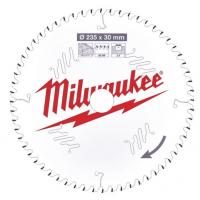 Пильный диск для циркулярной пилы по деревуMilwaukee 235 x 30 x 2.4 мм (1шт)