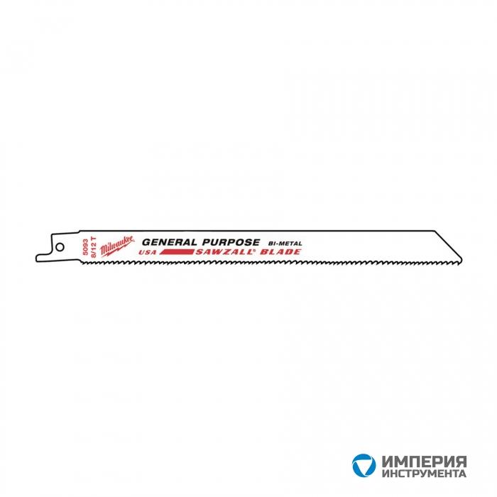 Полотно универсальное Milwaukee 200 х 8/112 мм/ шаг зуба 3.2/2.1 мм (500шт)
