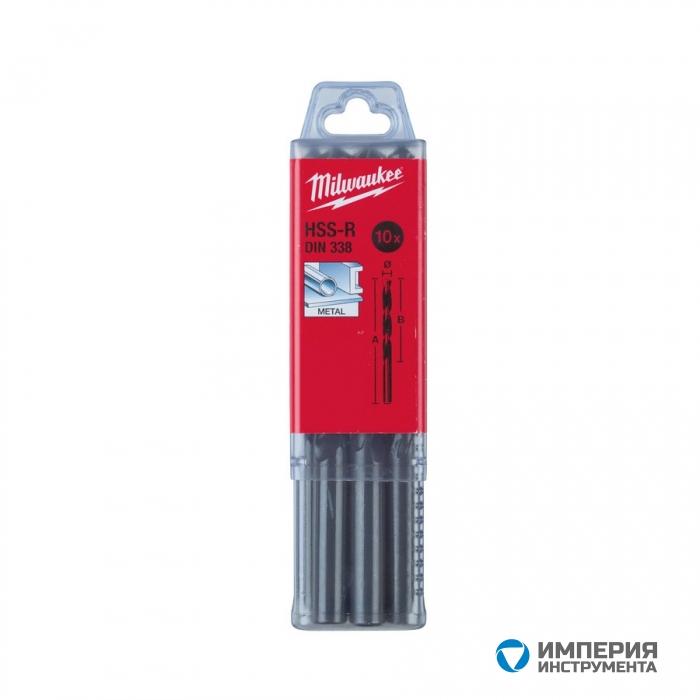 Сверло по металлу Milwaukee HSS-R DIN338 1.5x 40мм (10шт)